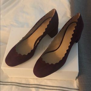 Chloe scalloped suede pump